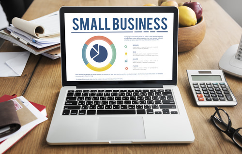 LaptopShowingSmallBusinessOnScreen The Continuing Threat of Cybercrime to SMEs