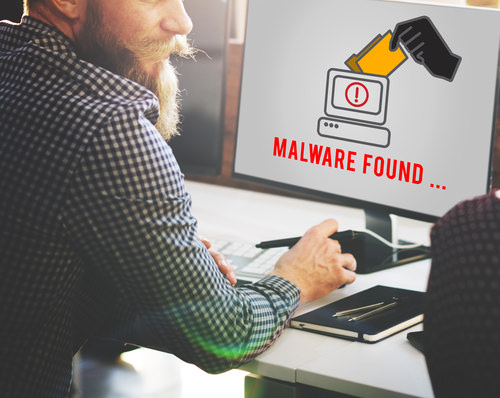 Man findsMalwareComputer Who's looking after your IT and cybersecurity?